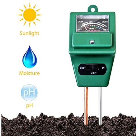 Soil tester for testing pH, sunlight and moisture.